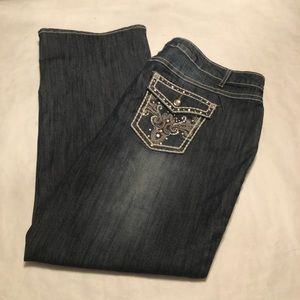 Cato's Woman Embellished Jeans Size 22 W NWOT